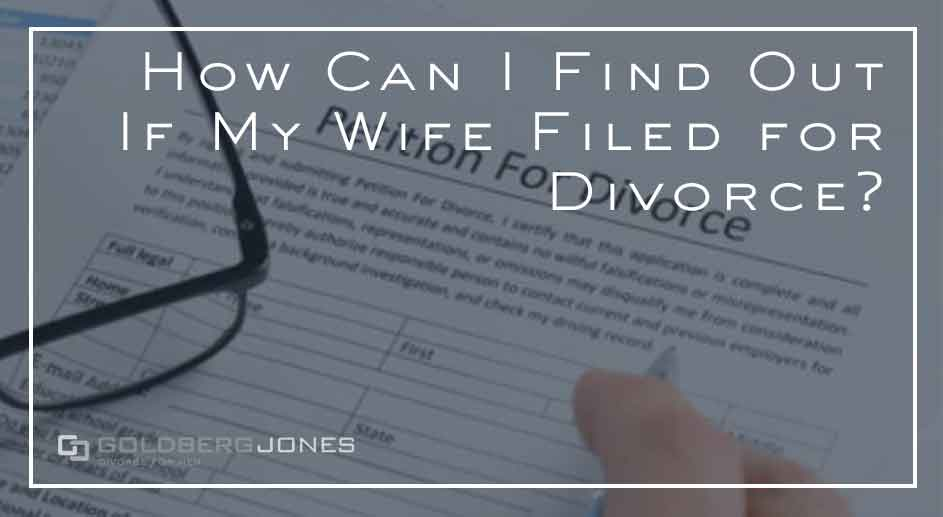 did your spouse file for divorce