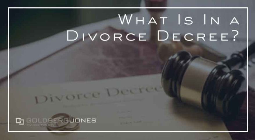 what's in a divorce decree in california