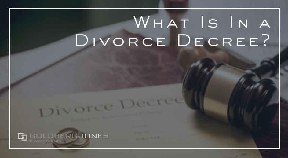 what's in a divorce decree in california