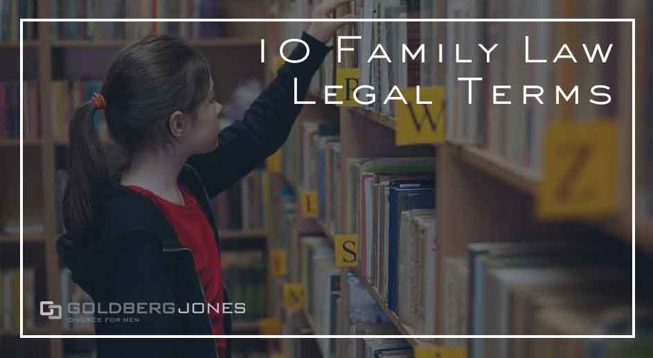 divorce glossary terms