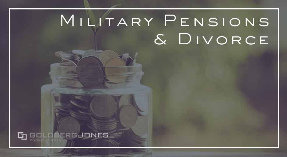 how are military pensions divided