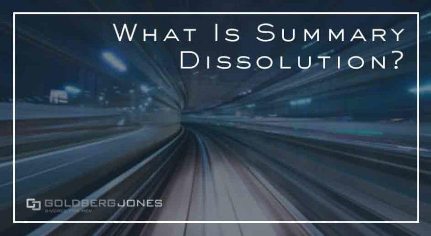is summary dissolution better than divorce