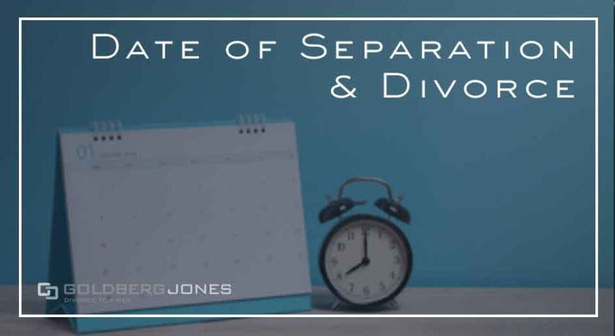 what is the date of separation