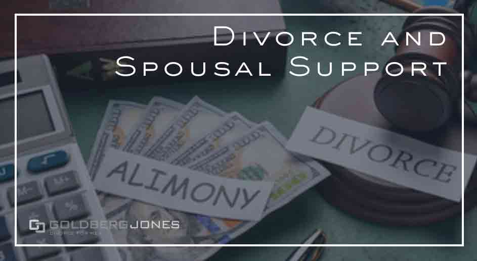 how does spousal support work in divorce