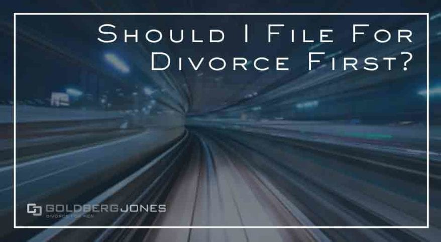 does the person who files for divorce have an advantage