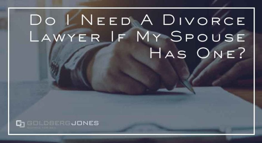 do both spouses need lawyer