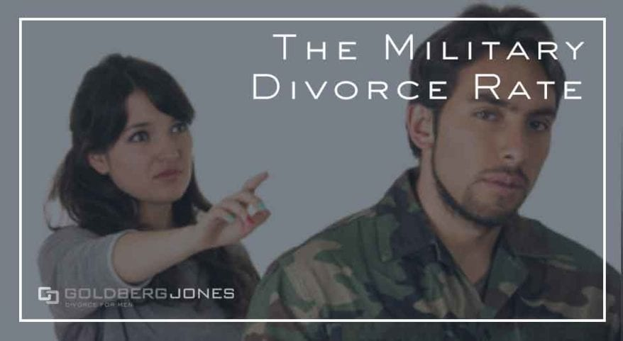 what is the divorce rate for service-members