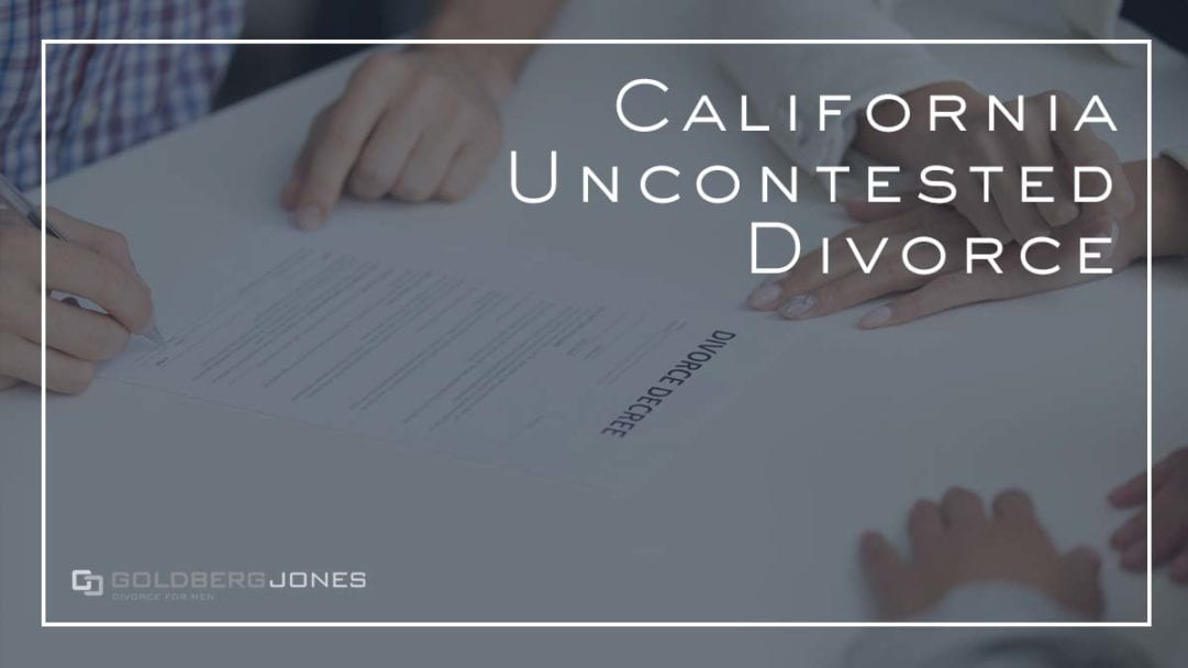 uncontested divorce in san diego california