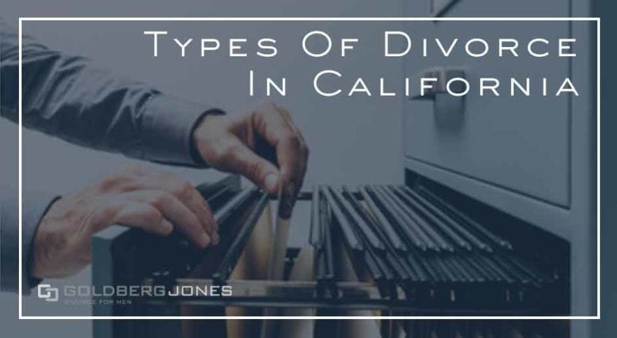 what types of divorce are there in CA