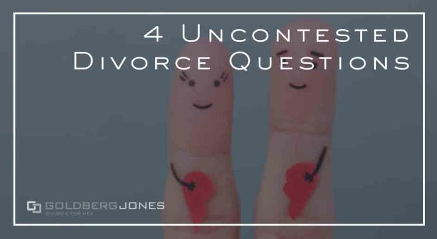 about uncontested divorce in California