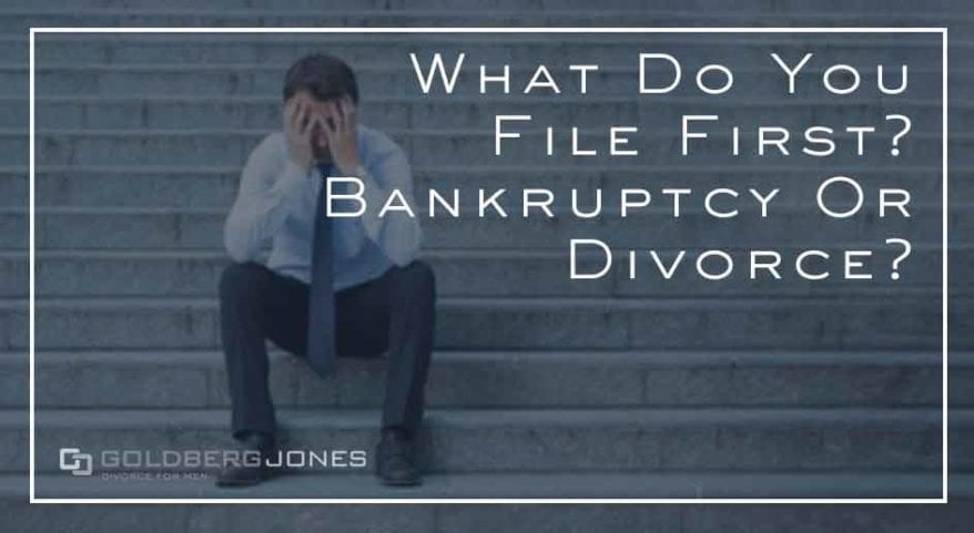 should you file bankruptcy before or after divorce