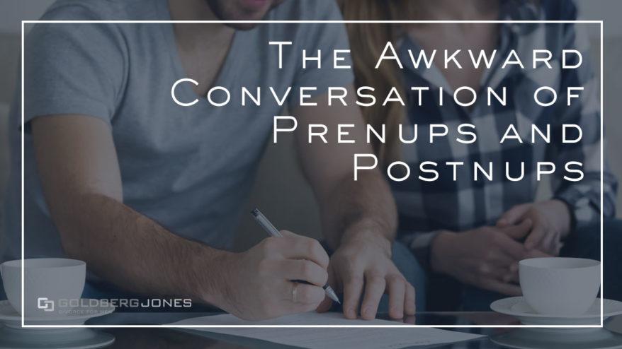 how do prenups and postnups work