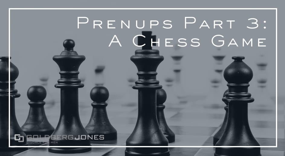 chess board prenup