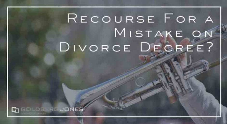 do you have recourse for a mistake