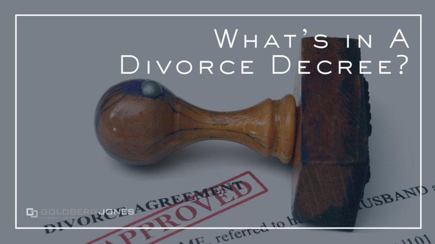 california divorce decrees