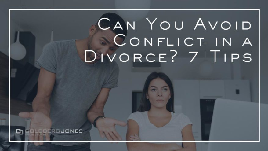 tips to avoid conflict during a divorce